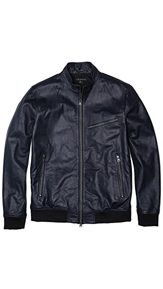 Theory Viek L Skyward Leather Jacket