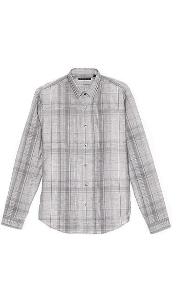 Theory Stephan Houlton Plaid Sport Shirt