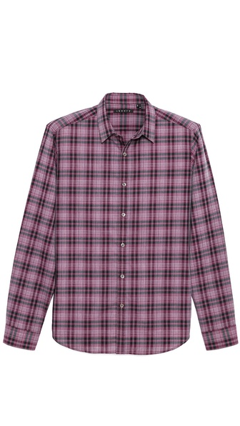 Theory Zack Plaid Dress Shirt