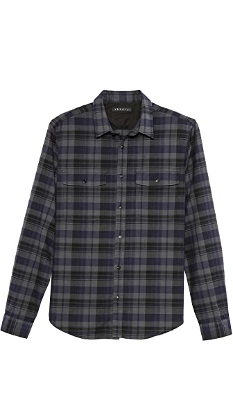 Theory Aumont Plaid Sport Shirt