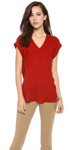 Theory Double Georgette Gyda Blouse at Shopbop / East Dane