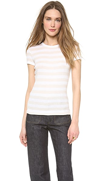 Theory Forli Stripe Tidrea Top