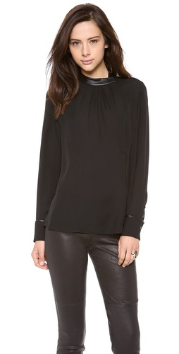 Theory Double Georgette Kyna Blouse at Shopbop / East Dane