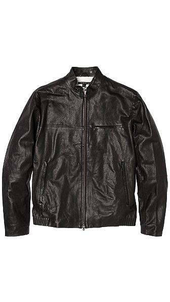 Theory Christo Leather Moto Jacket