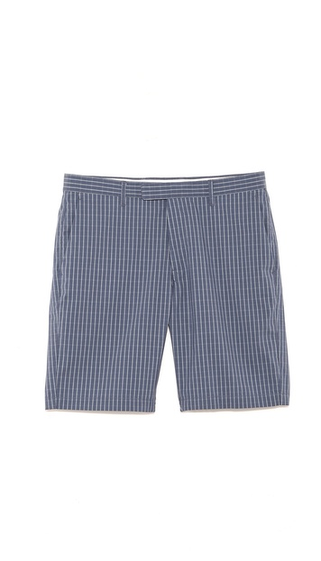 Theory Zaine Check Shorts
