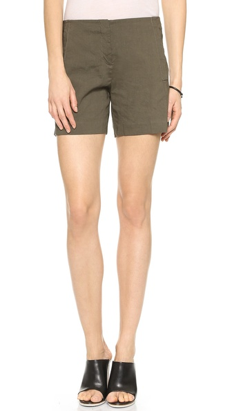Theory Crunch Jariah Shorts - Dark Army at Shopbop / East Dane