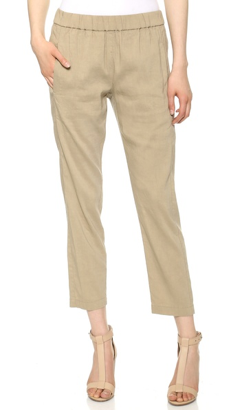 Theory Crunch Korene Trousers - Khaki at Shopbop / East Dane