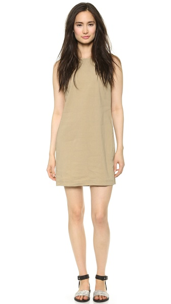 Theory Crunch Adraya Dress - Khaki at Shopbop / East Dane