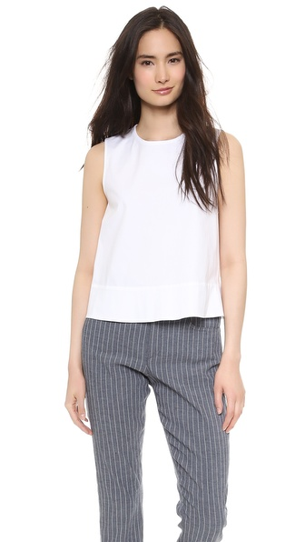 Theory Palatial Dayne Top - White at Shopbop / East Dane