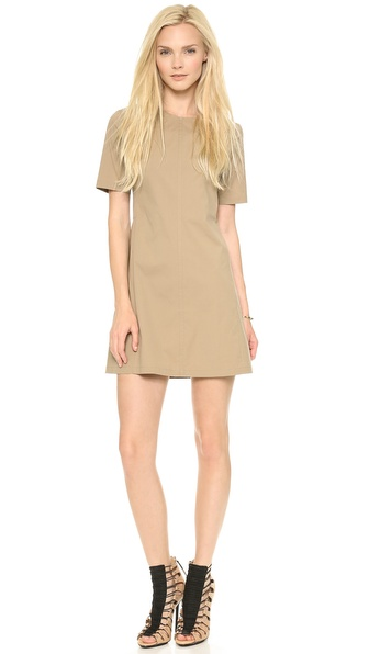 Theory Palatial Danaline Dress - Khaki at Shopbop / East Dane