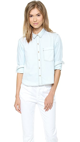 Theory Legano Travel Damilo Button Down
