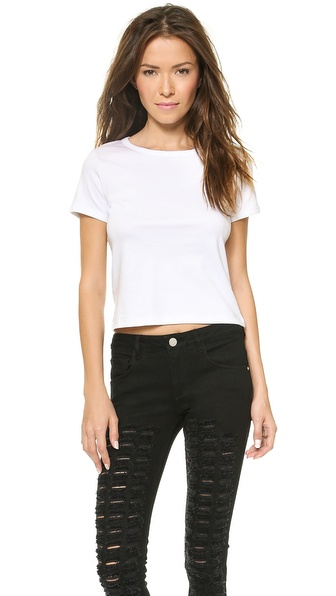 Theory Classic Tee Cropped Crew - White at Shopbop / East Dane