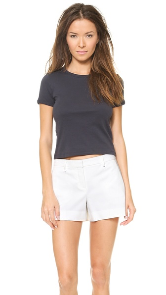 Theory Classic Tee Cropped Crew - Navy at Shopbop / East Dane