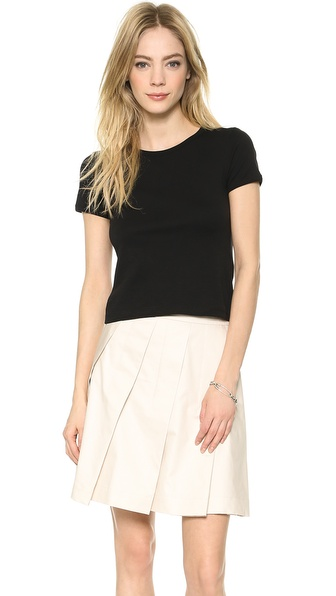 Theory Classic Tee Cropped Crew - Black at Shopbop / East Dane