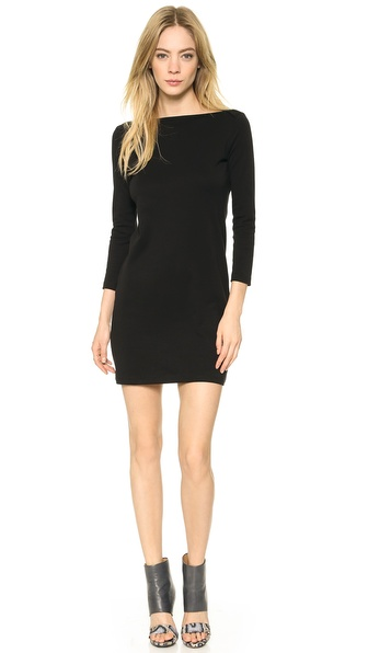 Theory Classic Tee Boat D Dress - Black at Shopbop / East Dane