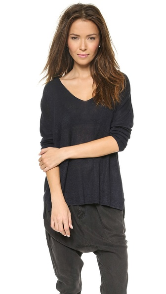 Theory Sag Harbor Larlissa Top - Armada Blue at Shopbop / East Dane
