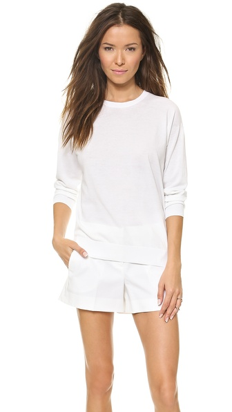 Theory Highcott Ventra Sweater - White at Shopbop / East Dane