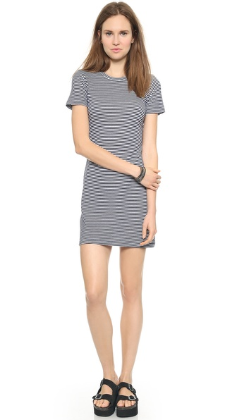 Theory Kalix Cherry Dress - White/Denim