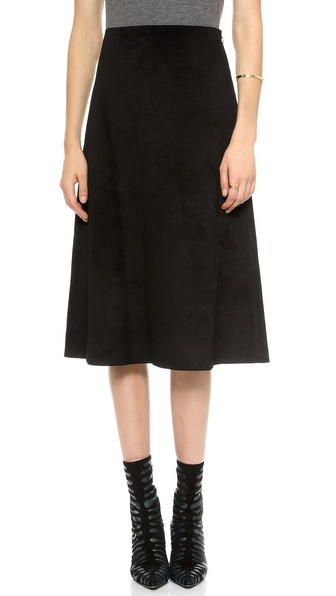 Theory Classic Suede Gabel Skirt