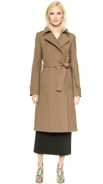 Theory Makintosh Ashling Trench Coat - Coffee