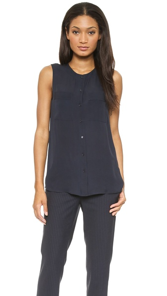 Theory Double Georgette Hetalla Blouse