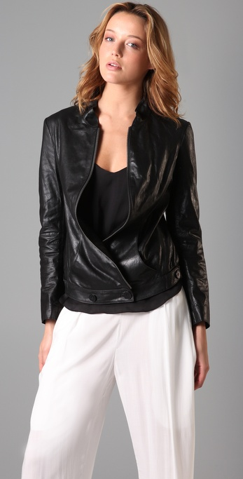 Theyskens' Theory Juno Lambskin Jacket