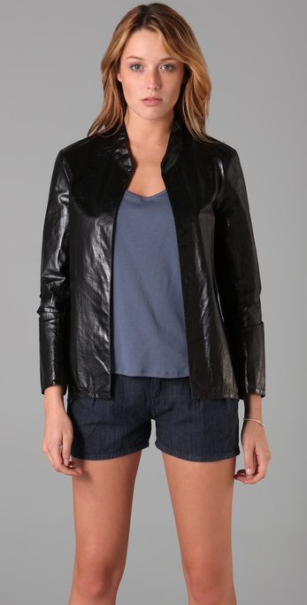Theyskens' Theory Nabi Leather Jacket
