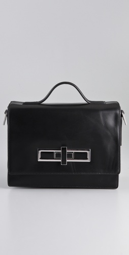 Theyskens' Theory Atter Medium Turnlock Bag