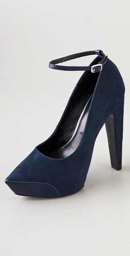 Theyskens' Theory Aki Suede Platform Pumps