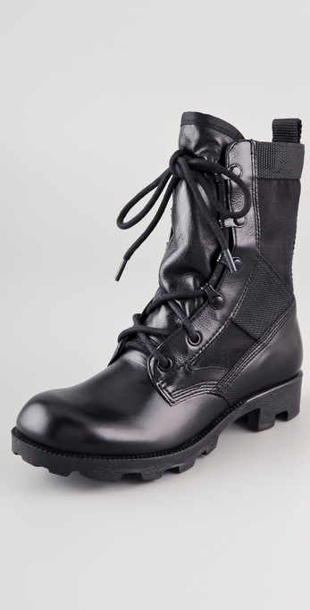 Theyskens' Theory Atta Lace Up Combat Boots