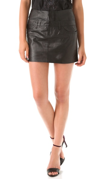 Theyskens' Theory Safaa Nibet Leather Skirt