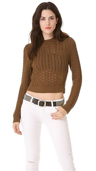 Theyskens' Theory Kya Crew Neck Sweater