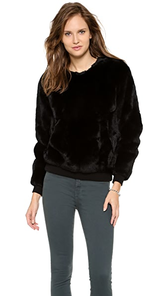 Theyskens' Theory Binga Fur Sweater