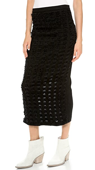 Theyskens' Theory Winset Destroyed Sona S Skirt