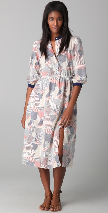 Thread Social Patchwork Print Dress