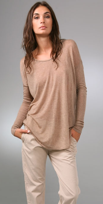Three Dots Crew Neck Top