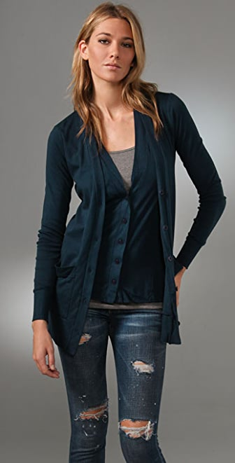 Three Dots Double Front Cardigan