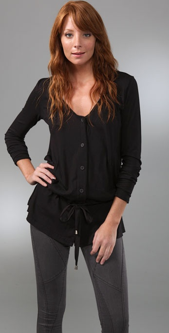 Three Dots Long Sleeve Cardigan