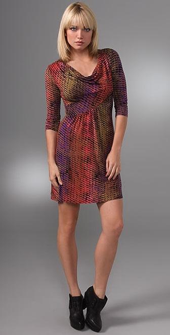 Three Dots Cowl Neck Dress