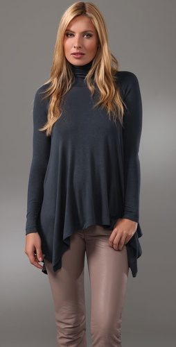 Three Dots Long Sleeve Turtleneck Top