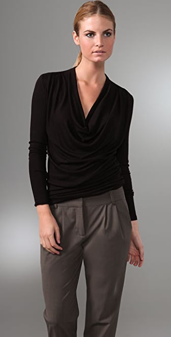 Three Dots Draped Front Tunic