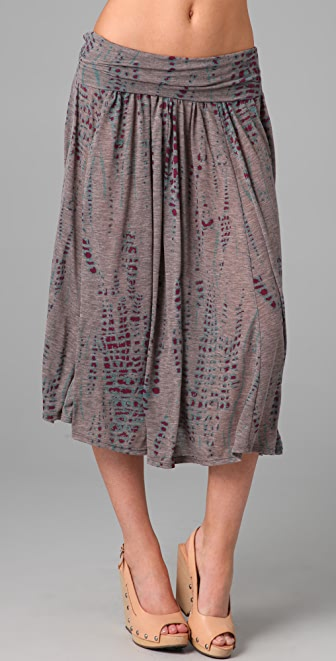 Three Dots Silver Sage Skirt / Dress