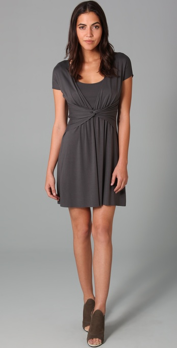 Three Dots Twist Front Dress