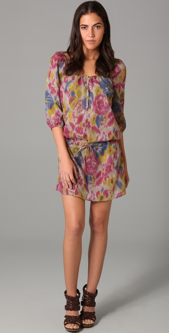 Three Dots Henley Tunic Dress