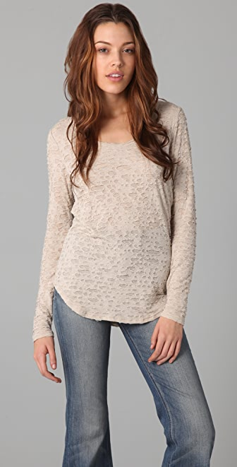 Three Dots Long Sleeve Scoop Top