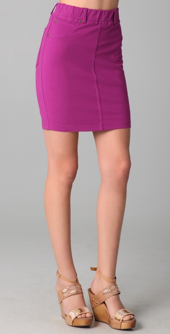 Three Dots Stretch Five Pocket Skirt