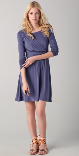 Three Dots Draped Front Dress