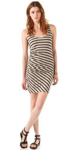 Three Dots Shirred Tank Dress