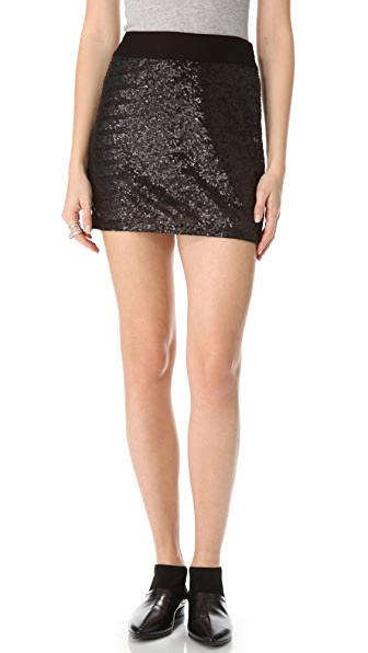 Three Dots Sequined Miniskirt