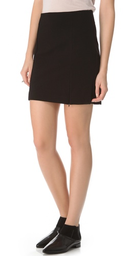 Shop Three Dots Zip Miniskirt and Three Dots online - Apparel,Womens,Bottoms,Skirts, online Store